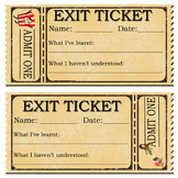 WORKSHEET - Exit Tickets