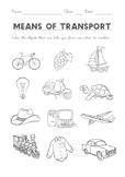 WORKSHEET Means of transport