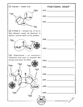 WORKSHEET ON IDENTIFYING FUNCTIONAL GROUPS