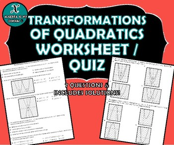 5 1 Attributes and Transformations of Quadratic Functions as well Alge 1   Transformations of Quadratic Functions   Vertex Form moreover  as well Graphing Quadratic Functions Worksheet Answers Beautiful Scaling and besides Warm Up For each quadratic function  find the axis of symmetry and additionally Function Transformations further  together with Quadratic Transformations Worksheet Transformations Quadratic furthermore Function Transformations Worksheet   Homedressage further quadratic transformations worksheet   writing worksheet moreover Module 19 2 Transforming Quadratic Functions also Quadratic Transformation Worksheet   Mychaume in addition Transformation Of Quadratics Activity Teaching Resources   Teachers additionally Translating Quadratics Teaching Resources   Teachers Pay Teachers moreover bined Transformations Worksheet Alge 2 Absolute Value Of additionally Module 19 2 Transforming Quadratic Functions. on transformations of quadratic functions worksheet