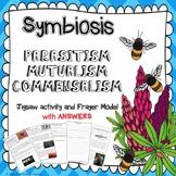 SYMBIOSIS ~ Parasitism, Mutualism, Commensalism~ JIGSAW + FRAYER MODEL + ANSWERS