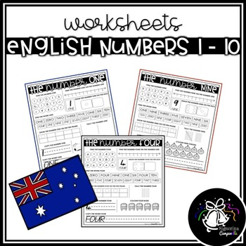 WORKSHEETS | ENGLISH NUMBERS 1 - 10