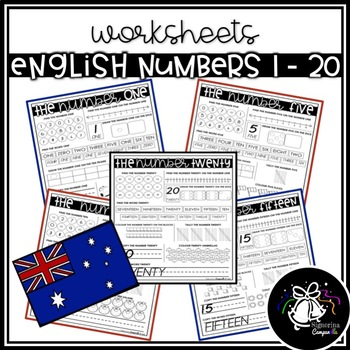 WORKSHEETS   ENGLISH NUMBERS 1 - 20