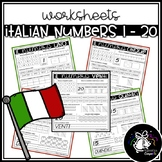 WORKSHEETS | ITALIAN NUMBERS 1 - 20