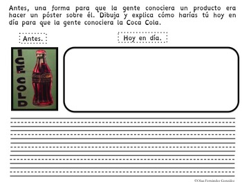 WORKSHEETS TO ANALYZE LIFE NOW AND IN THE PAST THROUGH ARTIFACTS (SPANISH)