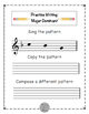 WORKSHEETS: Write and Create Tonal Patterns: F Major, Tonic & Dominant.