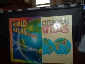 WORLD ATLAS ISBN 0-02-146425-1   (SET OF 2)