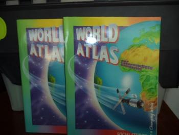 WORLD ATLAS  ISBN 0-02-146426-X  (set of 2