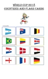 WORLD CUP 2018 COUNTRIES AND FLAGS CARDS