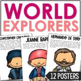 WORLD EXPLORERS Biography Color Posters, Bulletin Board Classroom Decor