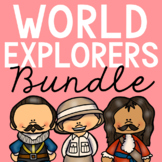 WORLD EXPLORERS Posters | Coloring Pages | Research Projects Activities BUNDLE