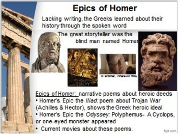 WORLD HISTORY:Ancient Greece-Cultures of the Mountains & Sea PowerPoint & Videos