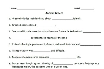 WORLD HISTORY:Ancient Greece-Cultures of Mountains Student