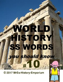 WORLD HISTORY  Words You Should Know #10