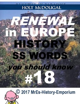 WORLD HISTORY    Words You Should Know #18