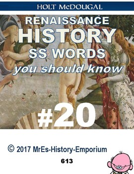 WORLD HISTORY    Words You Should Know #20