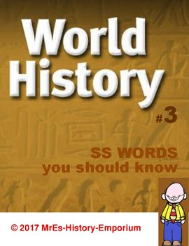 WORLD HISTORY  Words You Should Know #3