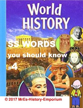 WORLD HISTORY  Words You Should Know #4