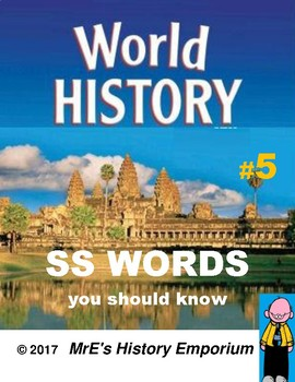 WORLD HISTORY  Words You Should Know #5