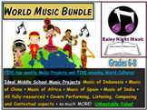 WORLD MUSIC Resources Five Pack MIDDLE SCHOOL BUNDLE