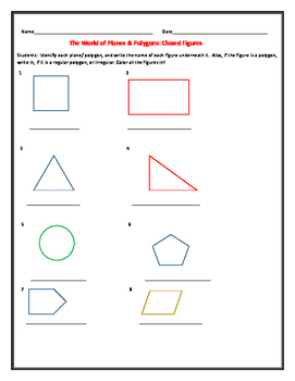 WORLD OF PLANES & POLYGONS: BEGINNING GEOMETRY ACTIVITY: GRADES 2-4