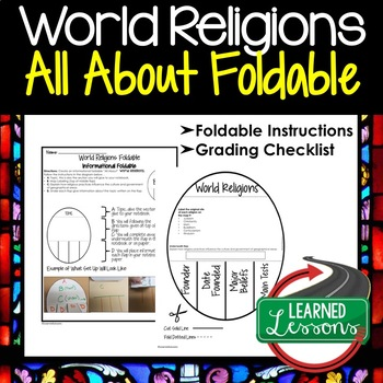 WORLD RELIGIONS Activity, All About Foldable (Interactive Notebook)