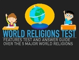 WORLD RELIGIONS TEST OVER CHRISTIANITY, JUDAISM, BUDDHISM,