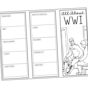 WORLD WAR I Research Brochure Template, World History Project