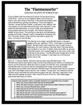 World History - WORLD WAR I, U.S. History, Emergency Lesson Plan