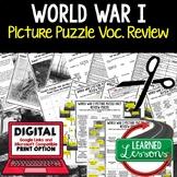 WORLD WAR I (WWI) Vocabulary Activity Picture Puzzle Unit
