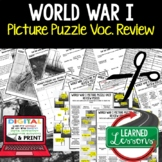 WORLD WAR I (WWI) Activity Picture Puzzle Unit Review, Stu