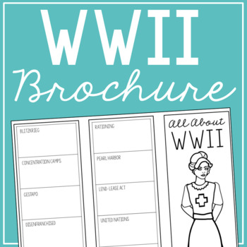 WORLD WAR II Research Brochure Template, World History Project