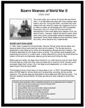 World History, WORLD WAR II, U.S.History, Emergency Lesson Plan