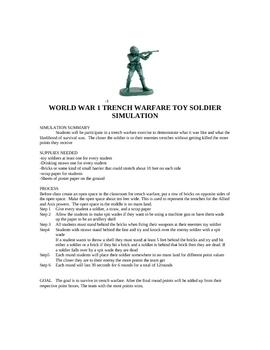 WORLD WAR TRENCH WARFARE TOY SOLDIER ACTIVITY