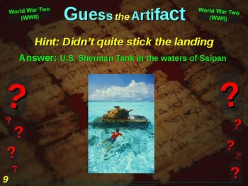 """WORLD WAR TWO (WWII) """"Guess the Artifact"""" - for HS World History (7/10)"""