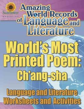 WORLD'S MOST PRINTED POEM: CH'ANG-SHA—Language & Literature Worksheets