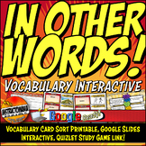 WORLDS OF NORTH & SOUTH Vocabulary Card Sort, Google Inter