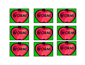 WORM!  A Beginning Sight Word Game