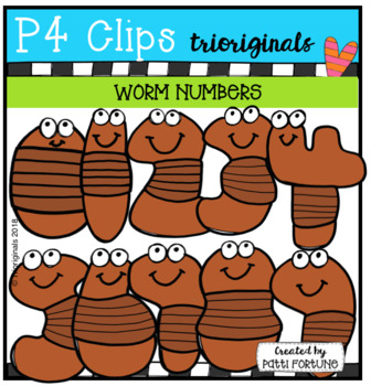 WORM Alphabet Number BUNDLE (P4 Clips Trioriginals)