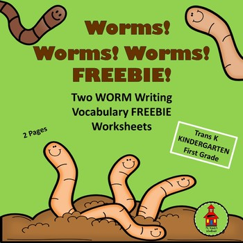 WORMS! FREEBIE! Reading, Writing, and Vocabulary Worksheets