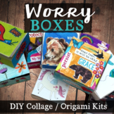WORRY BOXES: School Counseling Collage & Origami Coping To