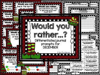 WOULD YOU RATHER?  December Journal Prompts
