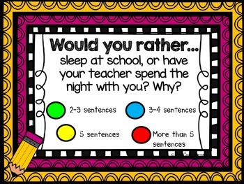 WOULD YOU RATHER?  September Journal Prompts
