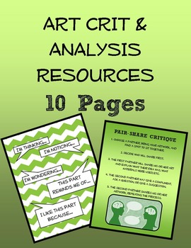 WOW! 10 Pages of Critique and Analysis Resources!