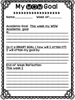 WOW Goal Reflection Form