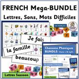 FRENCH Phonics & Sight Word MEGA-BUNDLE! | SASSOON Font | Distance Learning