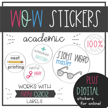WOW Stickers - Academic