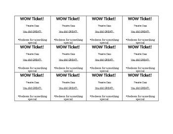 WOW Tickets!
