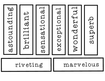 W.O.W. {Wonderful Outstanding Words} Interactive Writing Bulletin Board