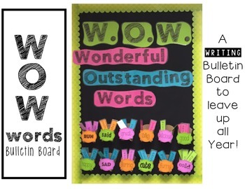 W.O.W. {Wonderful Outstanding Words} Interactive Writing B